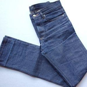 APC Petit Standard Selvedge Denim Jeans Size 29